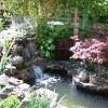 San Francisco fountain installation with koi pond