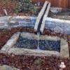 minimalistic asian style fountain construction