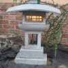 low stone Japanese style outdoor lighting
