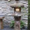 asian style stone lantern lighting