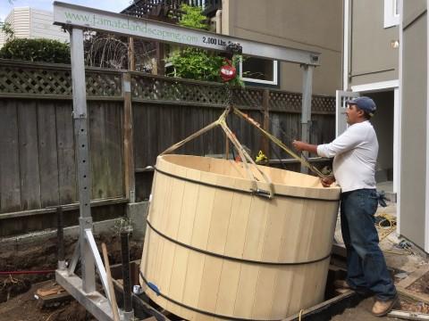 Bernal Heights, Installing a Cedar Tub