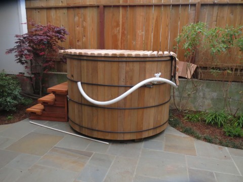 free standing hot tub. Castro  Free Standing Teak Hot Tub Installing Japanese Style Tubs in the San Francisco Bay Area
