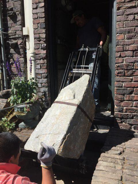 Moving a Foundation Boulder